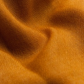 Dark golden pashmina shawl in diamond weave