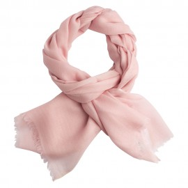 Soft pink pashmina shawl in diamond weave