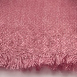 Mauve pashmina shawl in diamond weave
