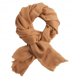 Toffee coloured pashmina shawl in diamond weave