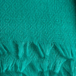 Turquoise pashmina shawl in diamond weave