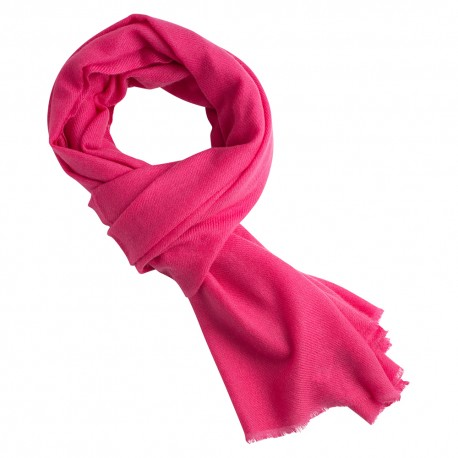 Raspberry red cashmere scarf