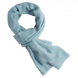 Ice blue cashmere scarf