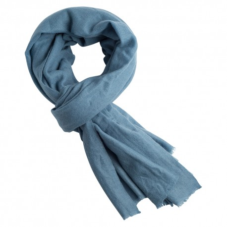 Grey blue cashmere scarf
