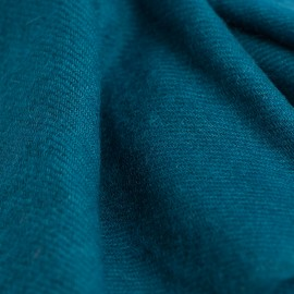 Petrol green cashmere scarf