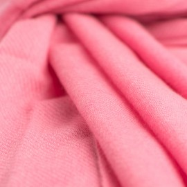 Pink cashmere scarf in twill weave