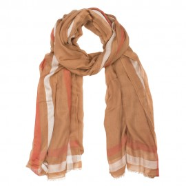 Cashmere/modal scarf in earch tones