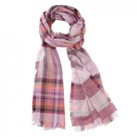 Pink scarf in merino wool