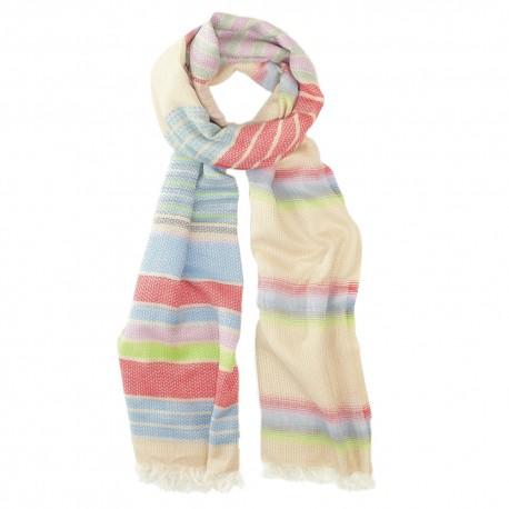 Multi coloured cotton scarf