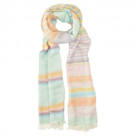Cotton scarf in pastel tones