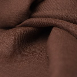 Dark brown pashmina stole in 2 ply twill weave