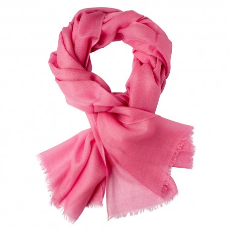 Pink pashmina stole in 2 ply twill weave