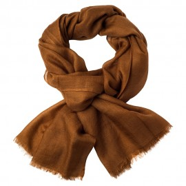 Chestnut brown pashmina shawl in 2 ply twill weave