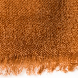 Chocolate brown pashmina shawl in 2 ply twill weave