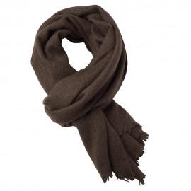 Large natural brown yak scarf