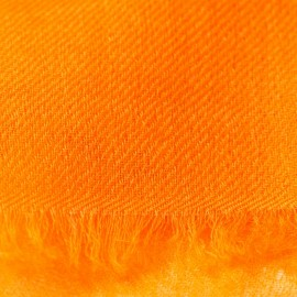 Orange pashmina stole in 2 ply twill weave