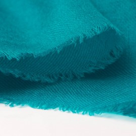 Petrol blue pashmina stole in 2 ply twill weave