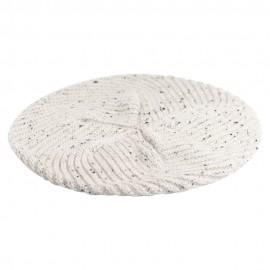 White flecked cashmere beret