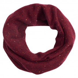 Burgundy flecked cashmere neck warmer