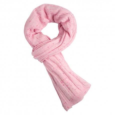 Soft pink flecked cashmere scaf