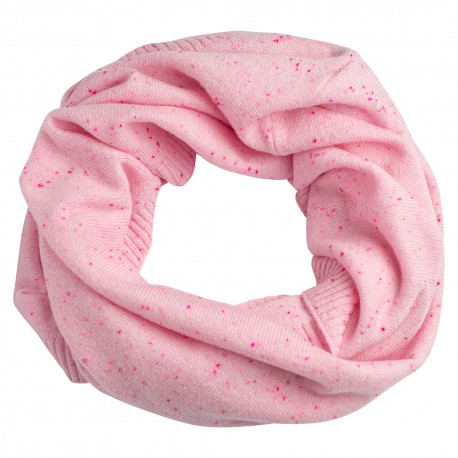 Soft pink flecked cashmere snood