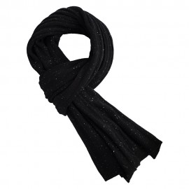 Black flecked cashmere scarf