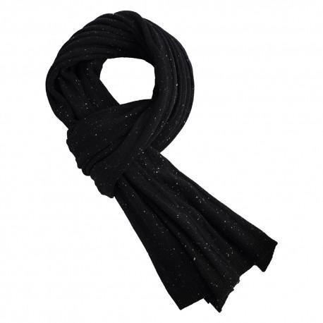 Black flecked cashmere scarf