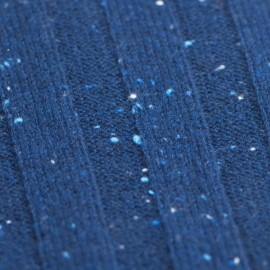Blue flecked cashmere scarf