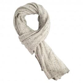 White flecked cashmere scarf