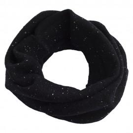 Black flecked cashmere neck warmer