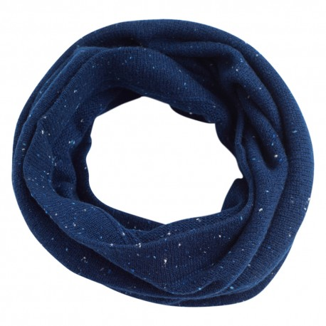 Blue flecked cashmere neck warmer