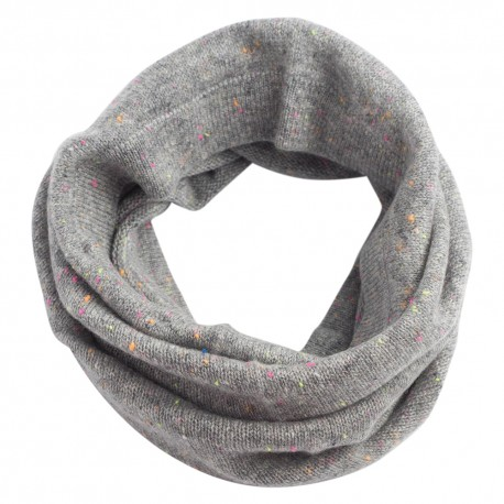 Grey flecked cashmere neck warmer