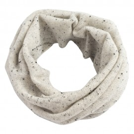 White flecked cashmere neck warmer