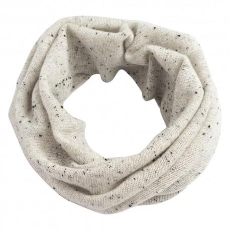 White flecked cashmere neck warmer