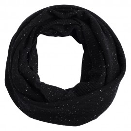 Black flecked cashmere snood