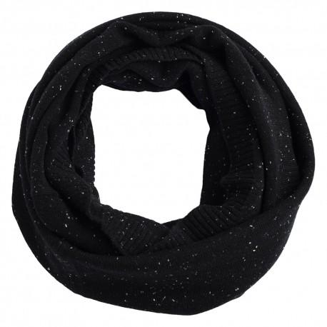 Black flecked cashmere snood