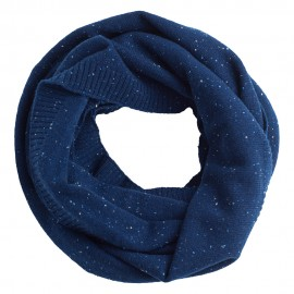 Blue flecked cashmere snood