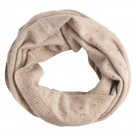 Beige flecked cashmere snood