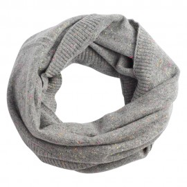 Grey flecked cashmere snood