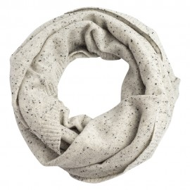 White flecked cashmere snood