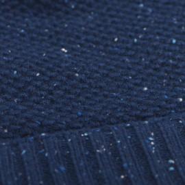 Blue flecked cashmere beanie