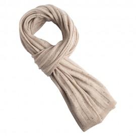 Beige flecked cashmere scarf