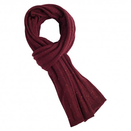 Burgundy flecked cashmere scarf
