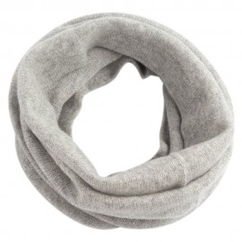 Grey neck warmer knitted in cashmere