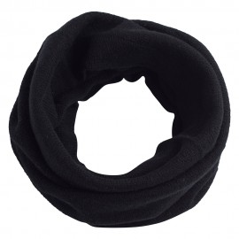 Black snood knitted in pure cashmere