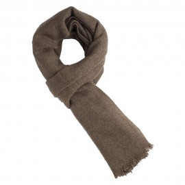 Natural grey brown yak scarf