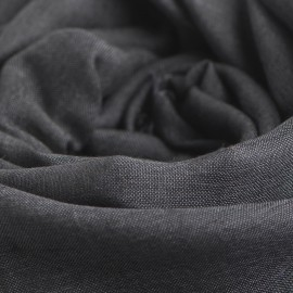 Dark grey pashmina shawl in cashmere and silk