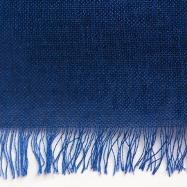 Dark blue pashmina shawl in cashmere and silk