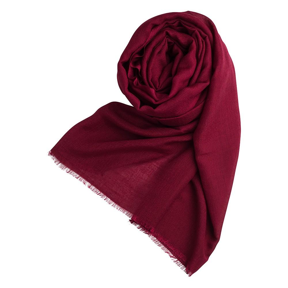 6465e5793b7 Burgundy pashmina shawl made from cashmere and silk