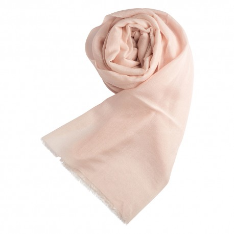 Pastel rose pashmina shawl in cashmere and silk
